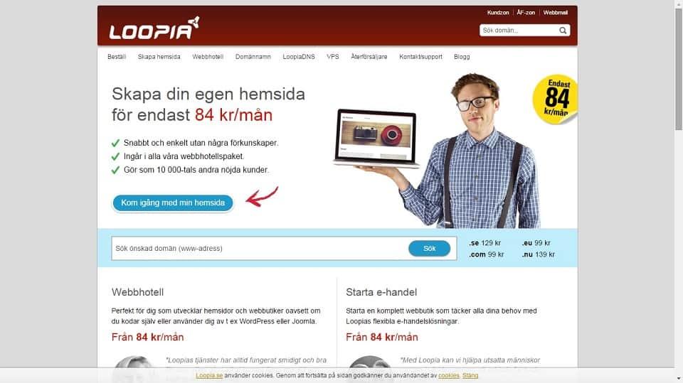 loopia webbhosting