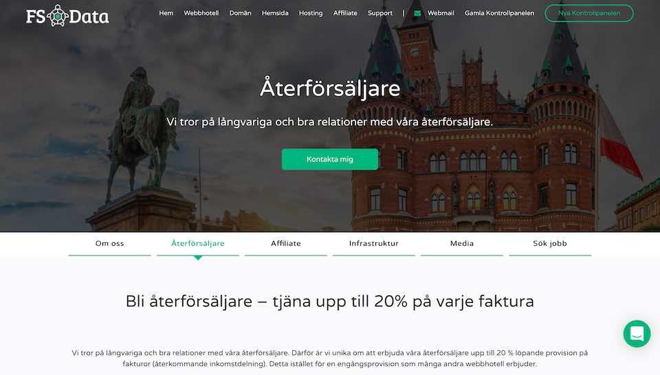 FS Data bli återförsäljare av webbhotell