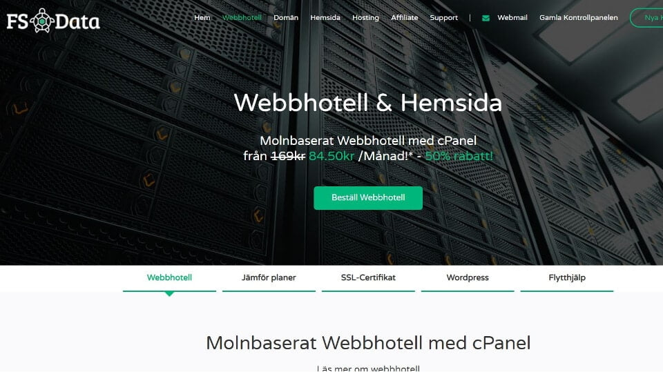 FS Data webbhotell