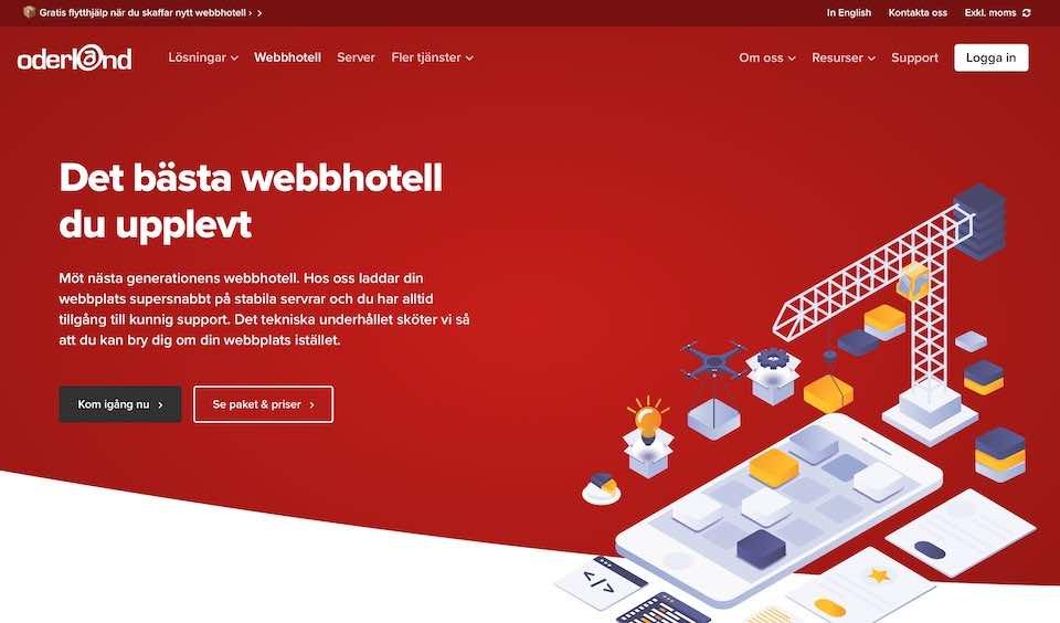 Oderland webbhotell