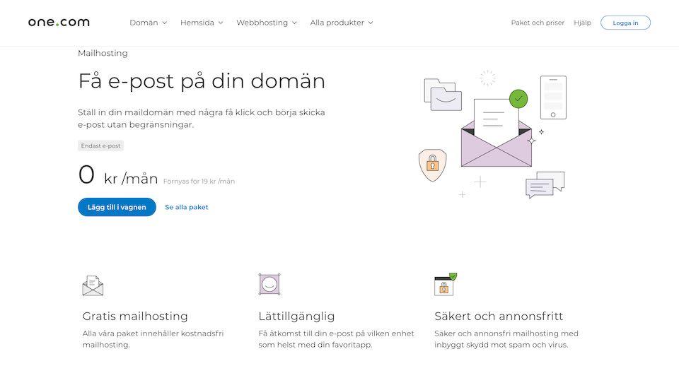 One.com egen e-post