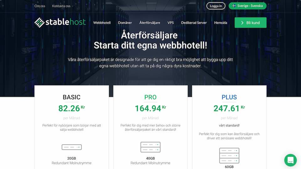 Stablehost reseller webbhotell