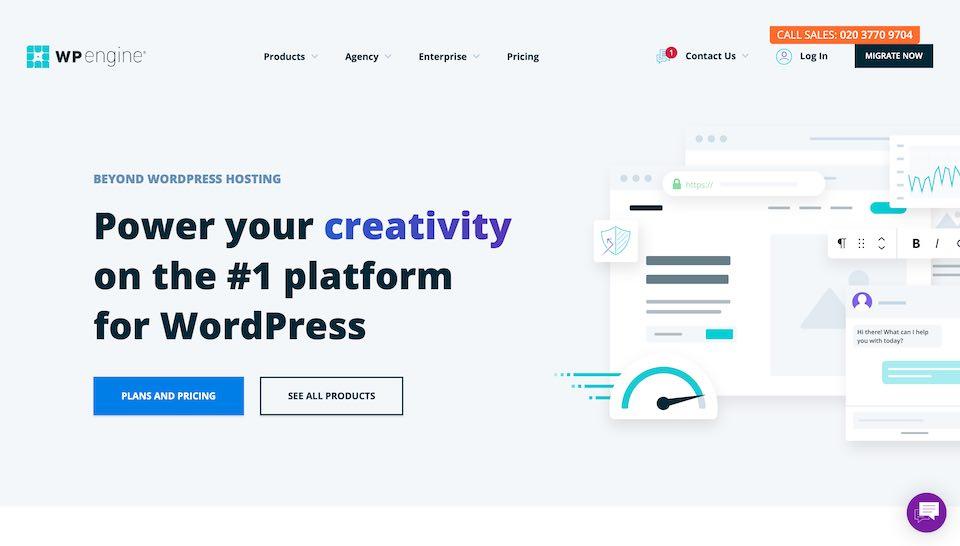 WP engine för WordPress
